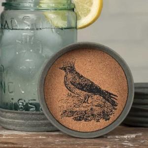 Mason Jar Lid Coaster - Crow with Crown