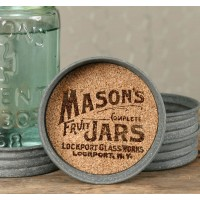 Mason Jar Lid Coaster - Mason Jars Logo