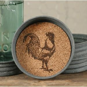 Mason Jar Lid Coaster - Rooster