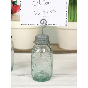 Mason Jar Place Card Holder -Barn Roof