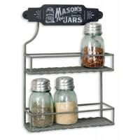 Mason Jar Two Tier Spice Rack