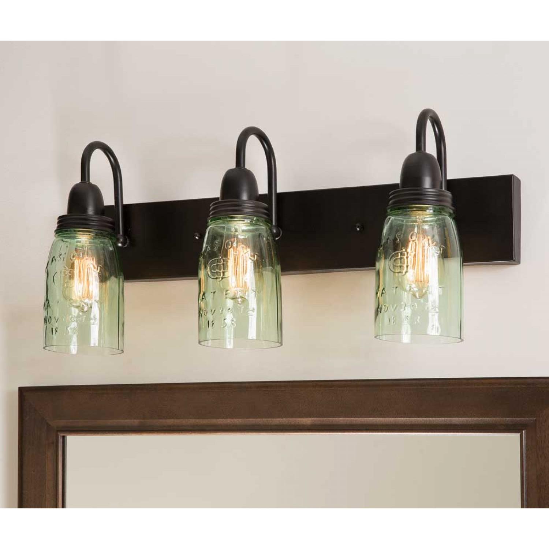 Vanity Lights With Mason Jars