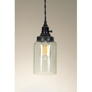 Medium Cylinder Jar Pendant Light