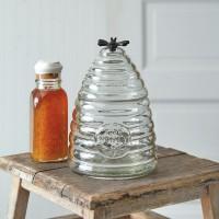 Medium Honey Hive Glass Canister