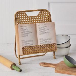 Metal Bamboo Cookbook Stand