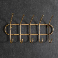 Metal Bamboo Entryway Rack