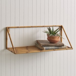 Metal Bamboo Wall Shelf