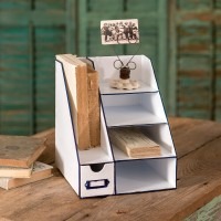 Metal Desk Organizer with Six Bins
