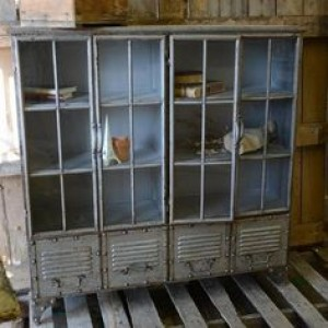 Metal Hutch Gray