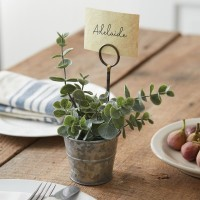 Metal Pail Place Card Holder - Box of 4