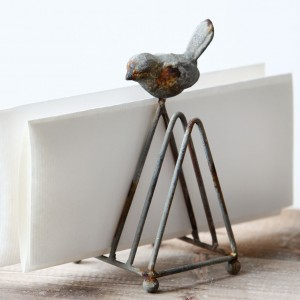 Metal Songbird Letter/Mail Holder
