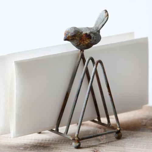 Metal Songbird Letter/Mail Holder