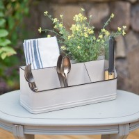 Metal Tabletop Organizer with Five Bins