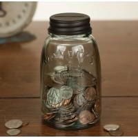 Midget Mason Jar Coin Bank