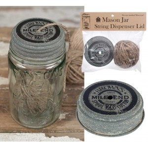 Mile End Mason Jar String Dispenser Lid with String