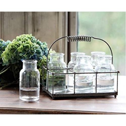 Milk Bottle Flower Holder (7 pcs)