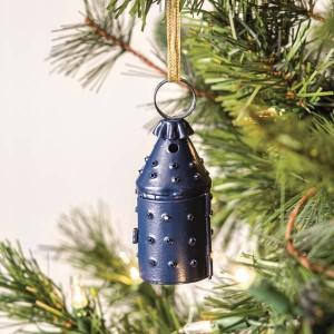 Mini Paul Revere Lantern Ornament - Blue - Box of 6