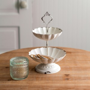 Two-Tier Scalloped Tray