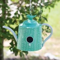 Mint Green Tea Pot Birdhouse
