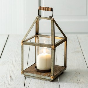 Mixed Metal Small Lantern
