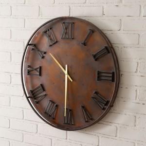 Mixed Metal Wall Clock
