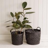 Modern Boho Black Baskets