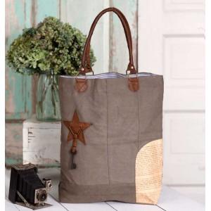 Newsprint Patch Tote Bag