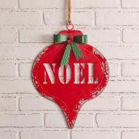 Noel Hanging Metal Wall Sign