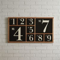 Numeral Wall Sign