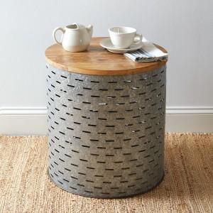 Olive Bucket Side Table