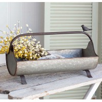 Open Feed Trough Caddy with Songbird
