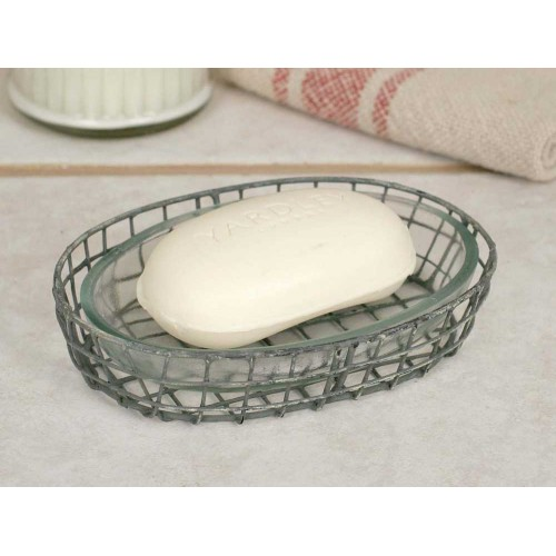 Oval Soap Dish w/ Glass Liner