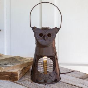 Owl Electric Candle Lantern