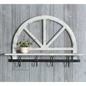 Parker's Prairie Wall Shelf with Hooks