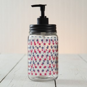 Patriotic Stars Soap Dispenser