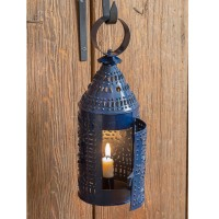 Paul Revere Candle Lantern - Blue