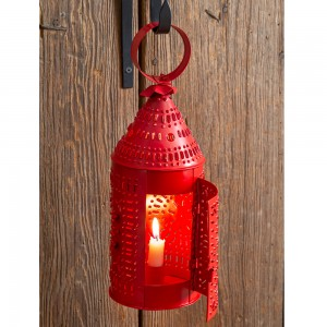Paul Revere Candle Lantern - Red