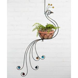 Peacock Hanging Planter