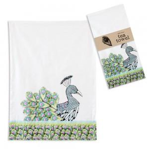 Peacock Tea Towel - Box of 4