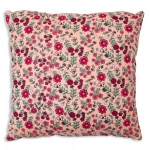 Pink Calico Throw Pillow
