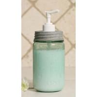 Pint Mason Jar Soap Dispenser - Barn Roof / White
