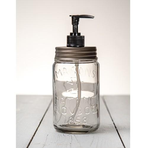 Pint Mason Jar Soap/Lotion Dispenser - Zinc