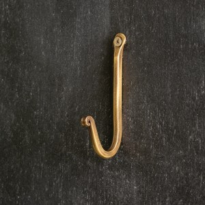 Plain Hook - Antique Brass - Box of 12