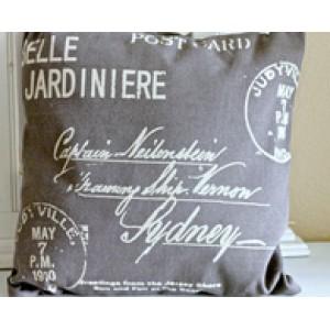 Postcard Fabric Pillow
