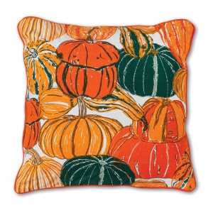 Pumpkins and Squash Cotton Throw Pillow