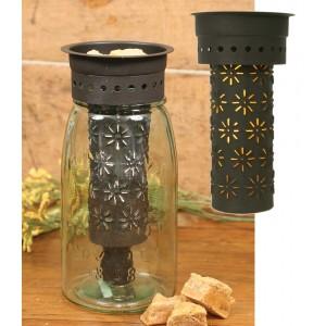 Punched Pinwheels Quart Mason Jar Wax Warmer Kit