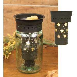 Punched Stars Pint Mason Jar Wax Warmer Kit