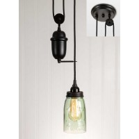 Quart Mason Jar Pulldown Pendant Light