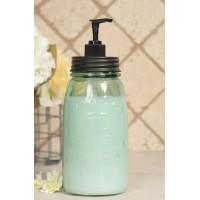 Quart Mason Jar Soap Dispenser - Black Lid