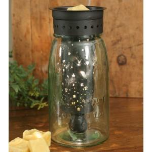 Quart Mason Jar Wax Warmer with Starry Sky Pattern